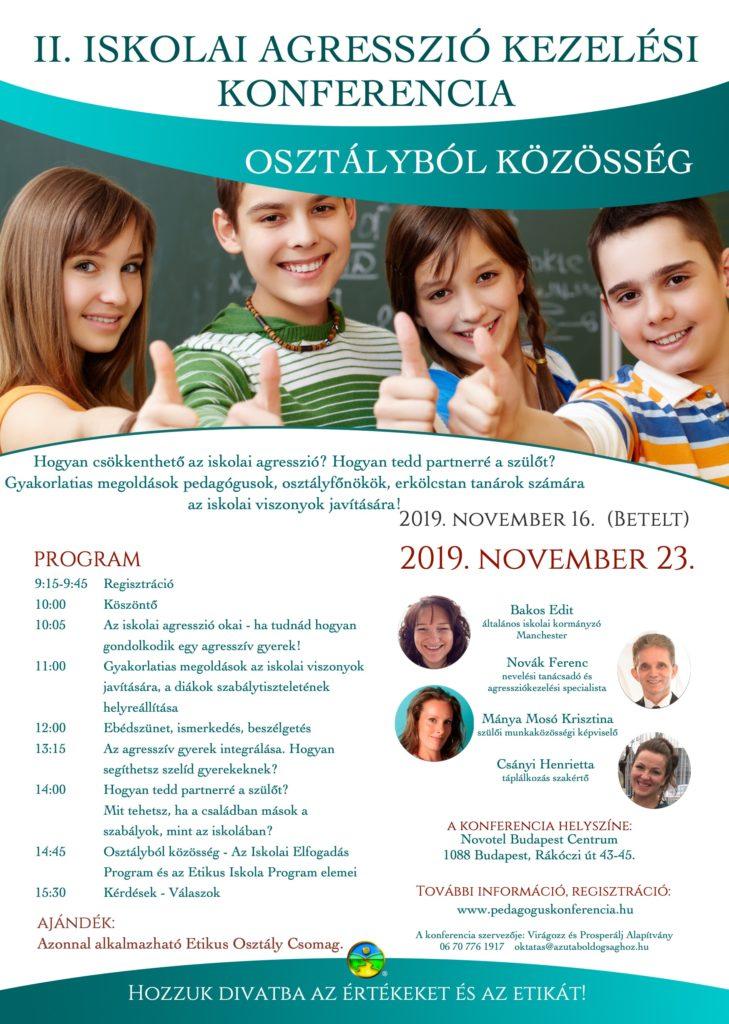 Iskolai Agresszió Kezelési Konferencia